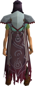 Combatant's cape equipped.png: Combatant's cape equipped by a player