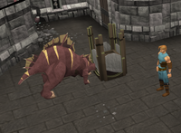A player hunting a creature