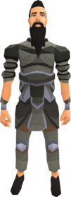 Agile armour equipped (male).png: Agile top equipped by a player