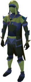 Lunar armour (yellow) equipped (male).png: Lunar helm (yellow) equipped by a player