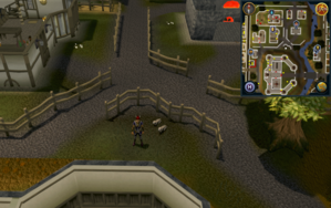 Compass clue Ardougne just north-east of Ardougne Castle.png