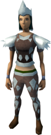 Sacred clay armour (ranged) equipped (female).png: Sacred clay body equipped by a player