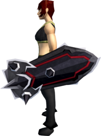 Black kiteshield (t) equipped.png: Black kiteshield (t) equipped by a player