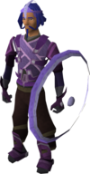 A player wearing elemental equipment