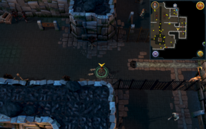 Scan clue Taverley Dungeon east side of black knight chamber.png