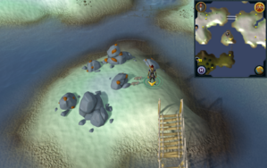 Scan clue Fremennik Isles on smallest central island.png