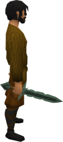 Adamant sword equipped.png: Adamant sword equipped by a player