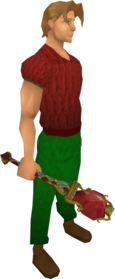 Ardent mace equipped.png: Ardent mace equipped by a player