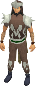 Leather armour (class 4) equipped.png: Chaps (class 4) equipped by a player