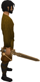 Bronze abyssal sword equipped.png: Bronze abyssal sword equipped by a player