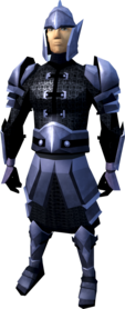 Mithril armour (light) equipped (male).png: Mithril chainbody equipped by a player