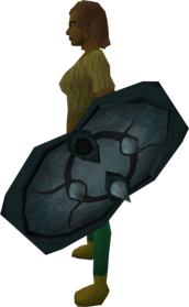 Rune spikeshield 0 equipped.png: Rune spikeshield equipped by a player