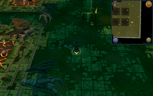 Scan clue Brimhaven Dungeon lower level in iron and steel dragon chamber east of south-eastern lava pool.png