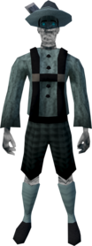 Ghostly lederhosen outfit equipped.png: Ghostly lederhosen shorts equipped by a player