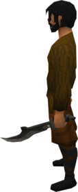 Iron off hand scimitar equipped.png: Iron off hand scimitar equipped by a player