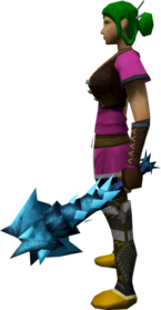 Off-hand drygore mace (ice) equipped.png: Off-hand drygore mace (ice) equipped by a player