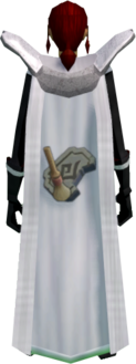 Retro archaeology cape equipped.png: Archaeology cape equipped by a player