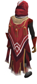 Completionist cape equipped.png: Completionist cape equipped by a player
