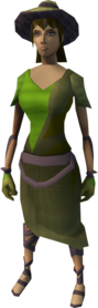 Moonclan outfit (hat) equipped (female).png: Moonclan hat equipped by a player