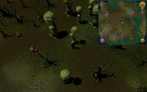 Compass clue Haunted Woods south-east of fairy ring.png