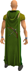 Hooded ranged cape equipped.png: Hooded ranged cape equipped by a player