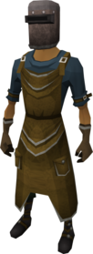Blacksmith's outfit equipped.png: Blacksmith's apron equipped by a player