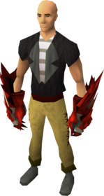 Dragon claws equipped.png: Dragon claw equipped by a player