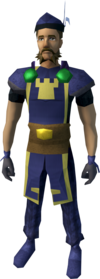 Serjeant outfit (trousers) equipped (male).png: Serjeant trousers equipped by a player