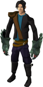 Adamant claws equipped.png: Adamant off hand claws equipped by a player