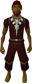 Arcane stream necklace equipped.png: Arcane stream necklace equipped by a player