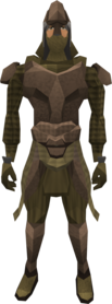 Dromoleather armour equipped (male).png: Dromoleather vambraces equipped by a player
