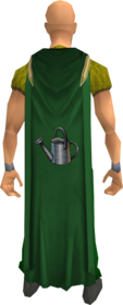 Farming cape equipped.png: Farming cape equipped by a player