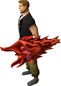 Dragon kiteshield equipped.png: Dragon kiteshield equipped by a player