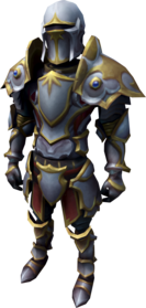 Trimmed masterwork armour equipped.png: Trimmed masterwork platelegs equipped by a player