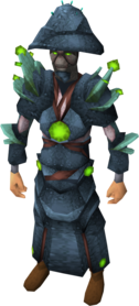 Fungal armour equipped (male).png: Fungal visor equipped by a player