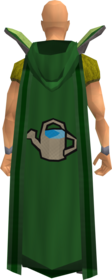 Retro hooded farming cape equipped.png: Hooded farming cape equipped by a player