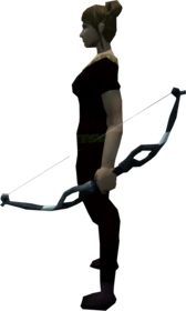 Corpsethorn shortbow equipped.png: Corpsethorn shortbow equipped by a player