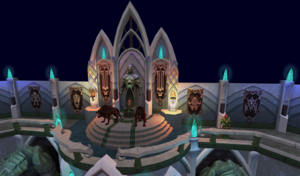 Elf city teaser - Iorwerth clan chained hellhounds.png