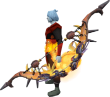 hellfire bow equipped.png: Hellfire bow equipped by a player