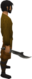 Iron scimitar equipped.png: Iron scimitar equipped by a player