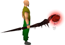 Noxious staff (blood) equipped.png: Noxious staff (blood) equipped by a player