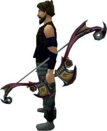 Second-Age bow equipped.png: Second-Age bow equipped by a player