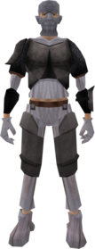 Zombie outfit (New Varrock) equipped (male).png: Zombie mask (New Varrock) equipped by a player