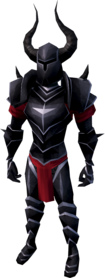 Black armour (heavy) equipped (male).png: Black full helm equipped by a player