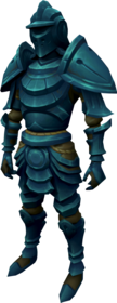 Elder rune armour equipped (male).png: Elder rune platelegs equipped by a player