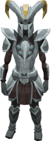 Gorgonite armour (heavy) equipped (female).png: Gorgonite gauntlets equipped by a player