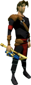 Nekhakha equipped.png: Nekhakha equipped by a player