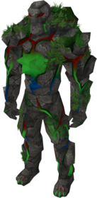 Magic golem outfit equipped.png: Magic golem legs equipped by a player