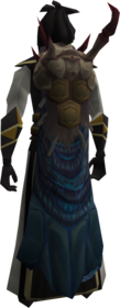 Abomination cape equipped.png: Abomination cape equipped by a player