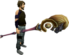 Second-Age staff equipped.png: Second-Age staff equipped by a player